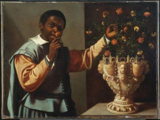 Spanish, Allegory of the Sense of Smell, first half of 17th century. Oil on canvas, 71.7 by 96.5 cm.Menil Collection, Houston