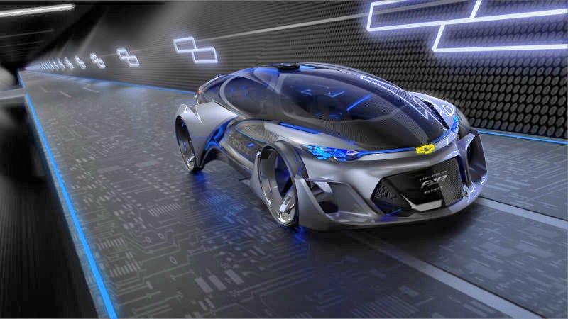 The autonomous Chevrolet-FNR concept, debuted at the 2015 Shanghai Motor Show. Photo: GM