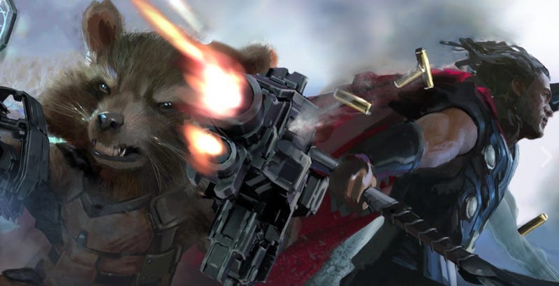 Image result for rocket raccoon infinity war