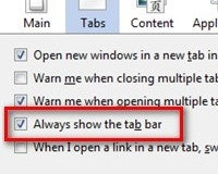 Illustration for article titled Hide the Tab Bar When Browsing a Single Page