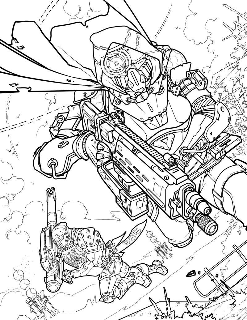 official destiny coloring book looks more relaxing than