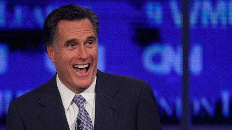 Illustration for article titled Mitt Romney also enjoys watching shows on the television screen, just like every American