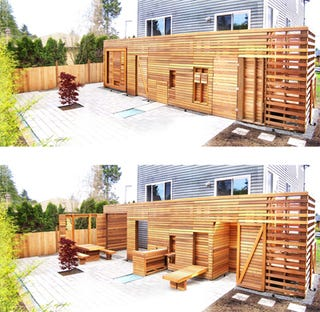 Illustration for article titled Vertical Patio Transforms To Save Precious Outdoor Space