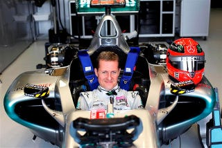 Illustration for article titled Schumacher to drive F1 car around historic Nordschleife