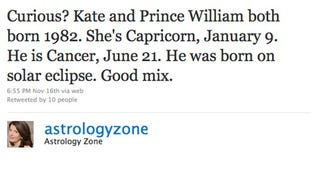 Illustration for article titled Astrologer Susan Miller Has Good News & Bad News For William & Kate