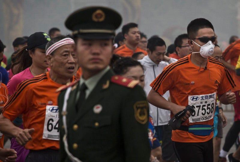 Illustration for article titled Beijing Marathon Tests Positive For Fine Particulates