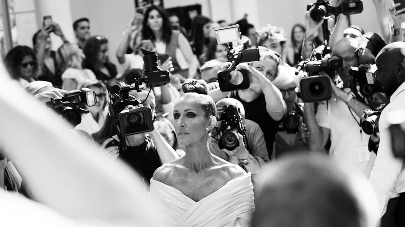 Céline Dion at Paris Couture Fashion Week, July 2, 2019.