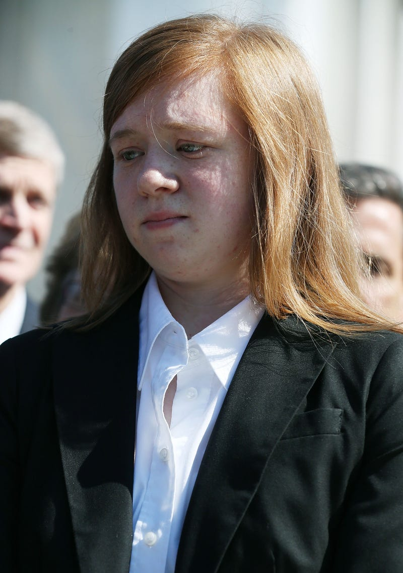 Abigail Noel Fisher speaks to the media Oct. 10, 2012, in Washington, D.C., after the Supreme Court heard arguments in her affirmative action case against the University of Texas.Mark Wilson/Getty Images