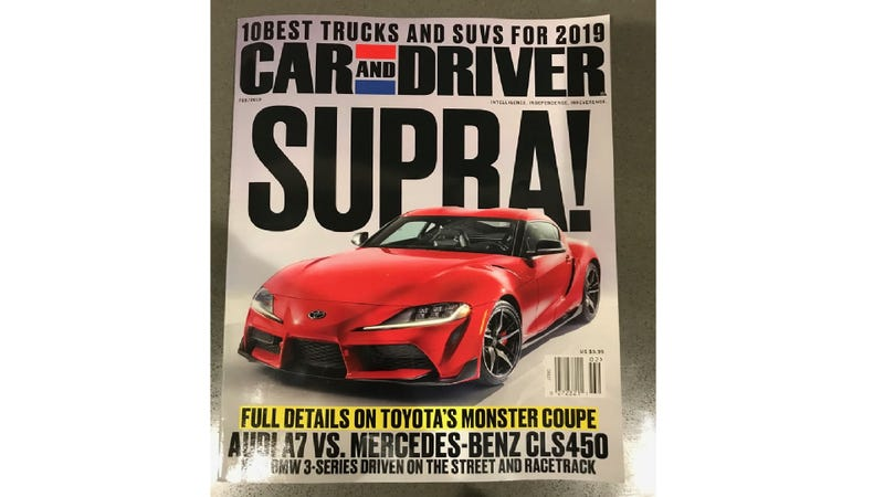 Illustration for article titled If You Needed Any More Confirmation, Here's the New Toyota Supra on the Cover of Car and Driver