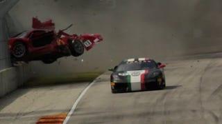 Holy crap, that Ferrari crash was crazier than I thought