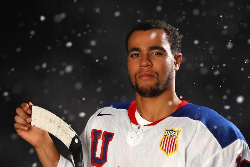Jordan Greenway poses for a portrait during the Team USA Media Summit ahead of the Pyeongchang 2018 Olympic Winter Games on Sept. 25, 2017, in Park City, Utah. (Ezra Shaw/Getty Images)