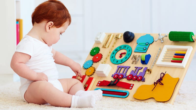 Make a Busy Board for Your Baby