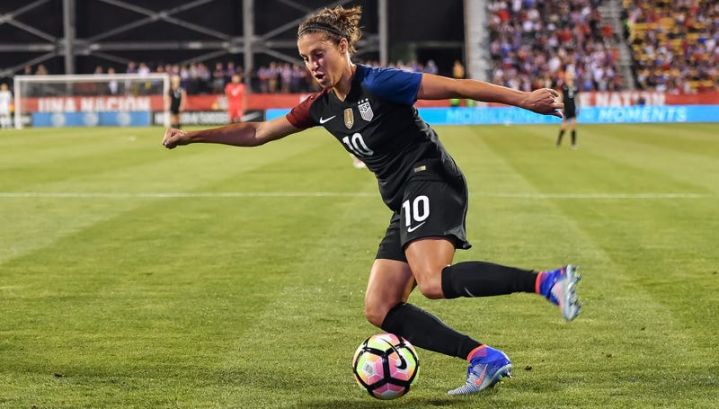 Carli Lloyd playing for the USWNT