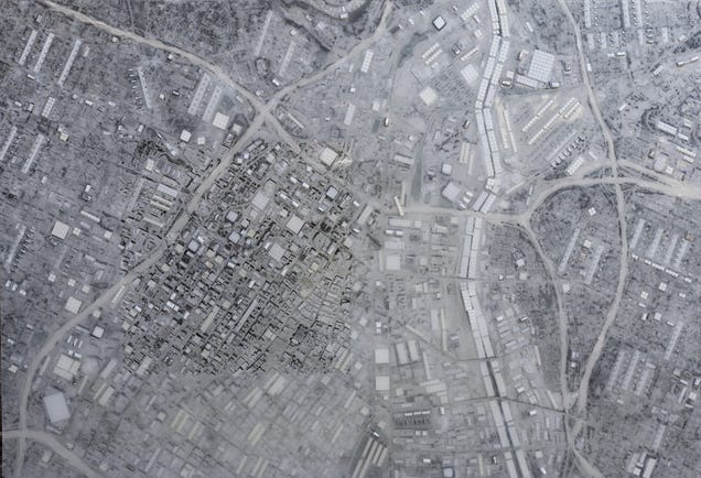 These Satellite Maps of Cities Are Made From Thousands of Lego Bricks