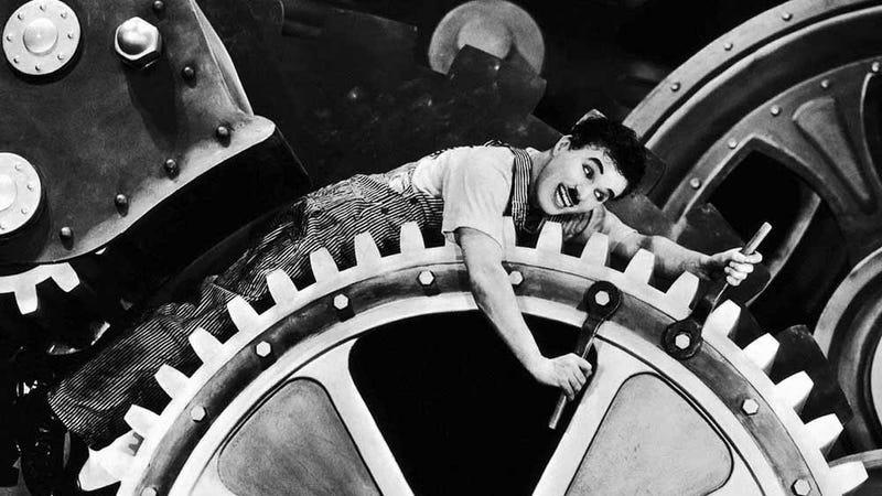 Modern Times, starring Charlie Chaplin.