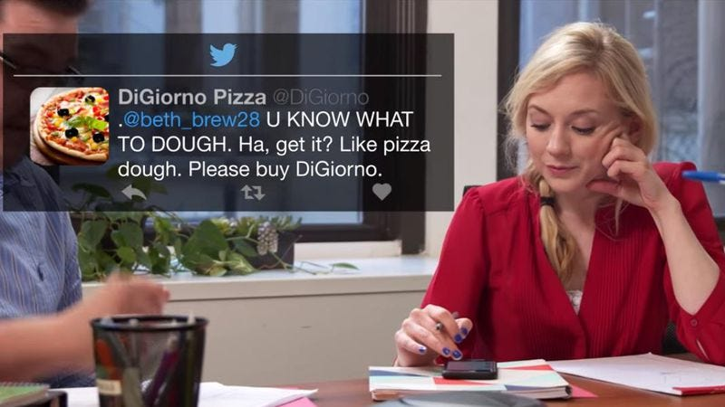 Illustration for article titled The Walking Dead's Emily Kinney falls in love with DiGiorno's Twitter account