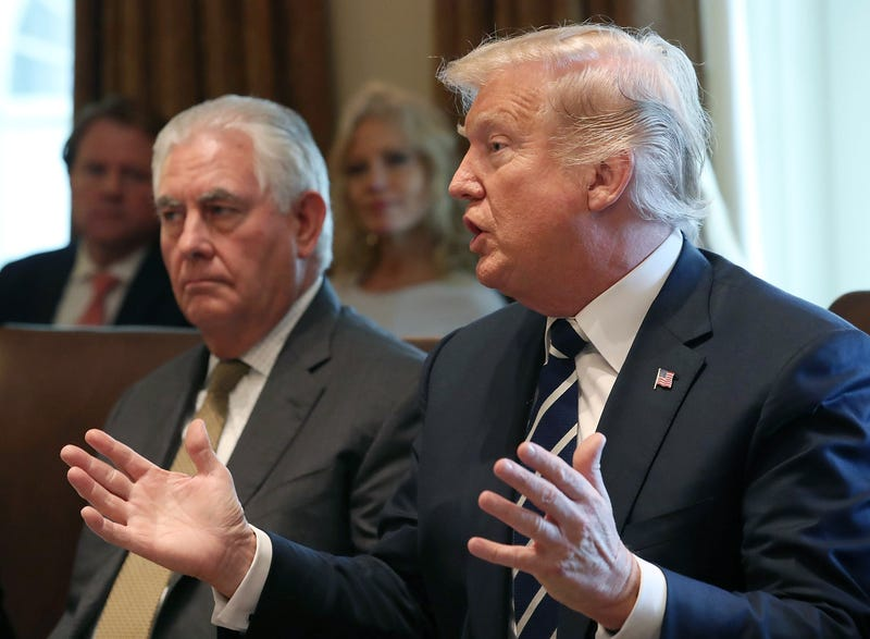 Secretary of State Rex Tillerson and President Donald Trump in October 2017 in Washington, D.C.