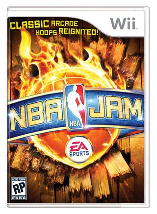 Illustration for article titled Flaming Basketball Gets the Cover of NBA Jam