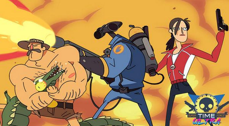 Illustration for article titled Team Fortress 2 Characters Are Joining Super Time Force