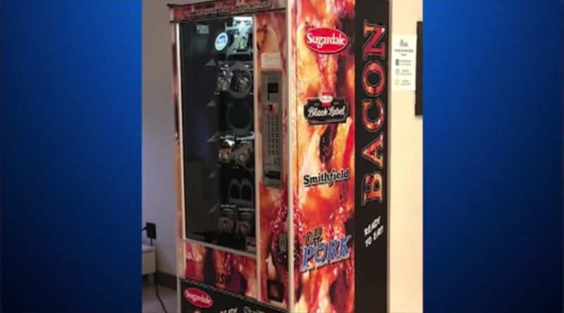 Illustration for article titled Lucky Ohio State students get bacon vending machine in time for finals