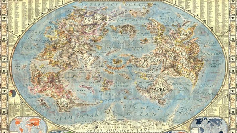 Illustration for article titled Este es, probablemente, el mapa de Internet más detallado y hermoso