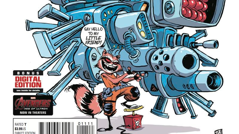 Illustration for article titled Exclusive Marvel preview: Rocket makes a thrilling getaway in Rocket Raccoon #11