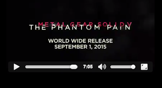 Illustration for article titled Metal Gear Solid V Will Be Out September 1
