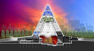 Illustration for article titled Niiice: Borat's Homeland Gets A Space Pyramid