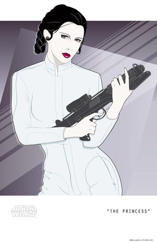 "Illustration for article titled Crazy 1980s ""New Wave"" Princess Leia Poster"