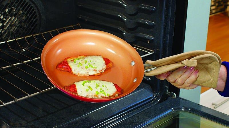 Red Copper 10pc Ceramic Cookware Set, $75