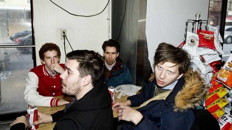 """Illustration for article titled Parquet Courts shine with """"Borrowed Time"""""""