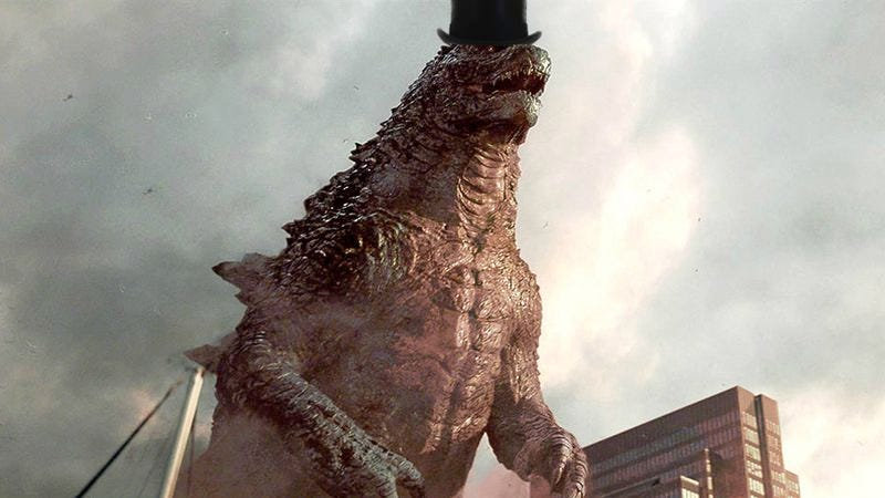 This monster is red and wears a hat, so it's clearly not Godzilla.