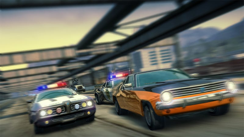 Illustration for article titled Burnout Cops & Robbers Pack Priced