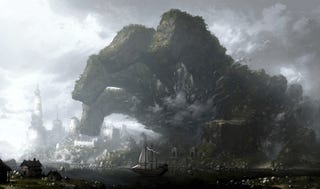 Illustration for article titled Concept Art Writing Prompt: The Great Rock Hand