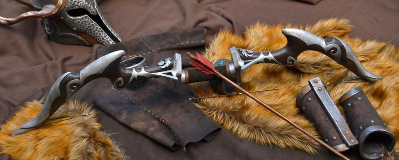 Illustration for article titled Skyrim Bow Is Real, Because This Guy Made It