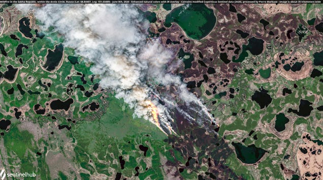 Satellite Images Show the Arctic s Fiery Unraveling