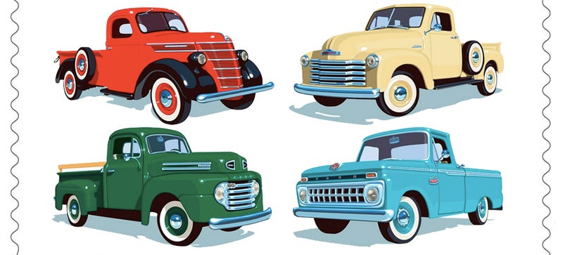 Illustration for article titled Gearheads Get Four Reasons To Appreciate Postage Stamps In 2016