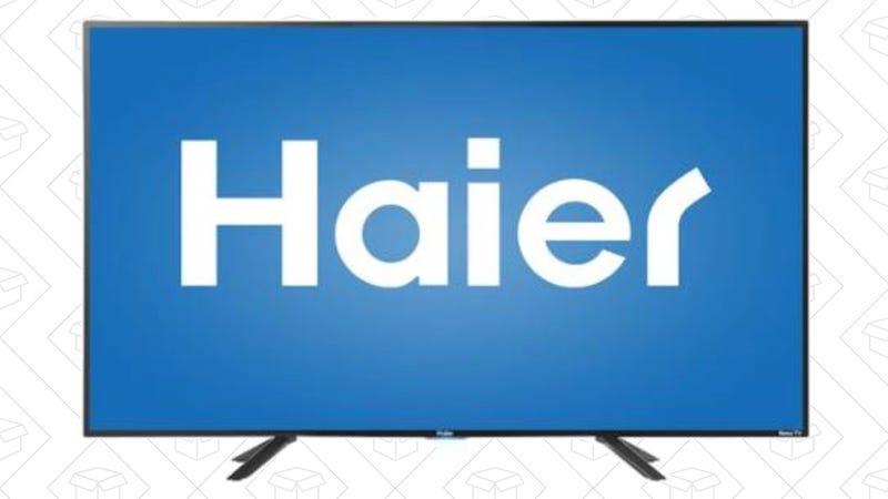 "Haier 49"" Roku TV, $250"