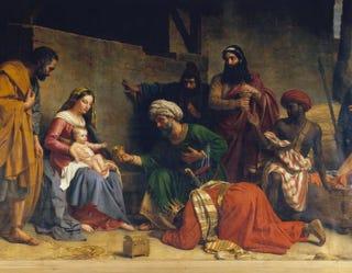 Alexandre-François Caminade, Adoration of the Magi, 1831. Oil on canvas, 287 by 475 cm.St. Etienne-du-Mont, Paris