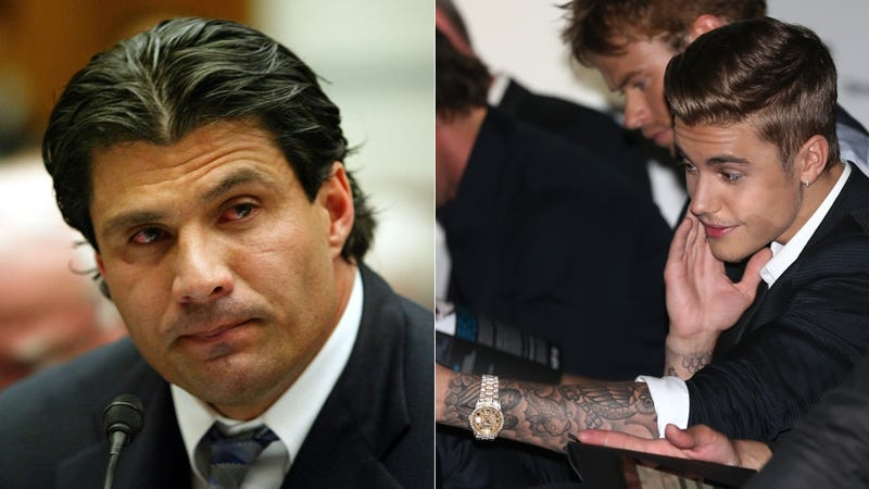 Illustration for article titled Justin Bieber, Jose Canseco Would Like to Do Like Coldplay and Fix You