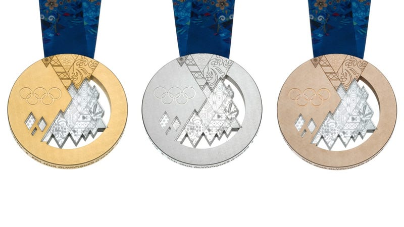 Illustration for article titled Here Are The 2014 Olympic Medals