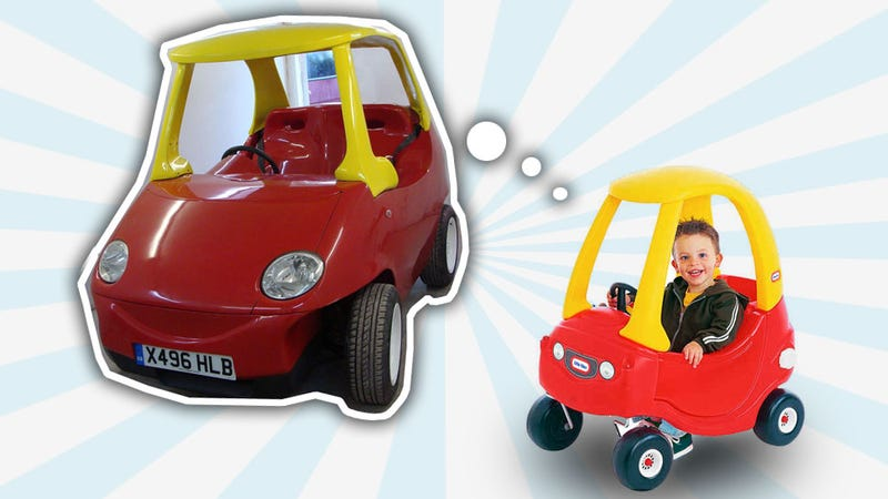 Illustration for article titled Giant Street Legal Cozy Coupe Will Delight The Crap Out Of You
