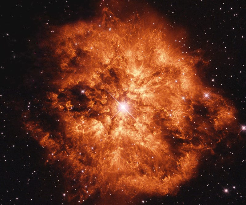Illustration for article titled The fieriest star explosion I've ever seen is not even a supernova
