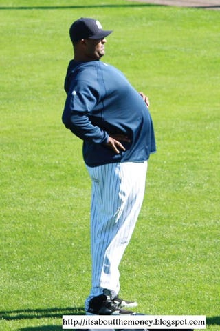 Illustration for article titled CC Sabathia Smuggles Small Child Into Spring Training