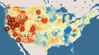 Illustration for article titled Heat Map Shows Where We Can Build Geothermal Plants in the U.S.