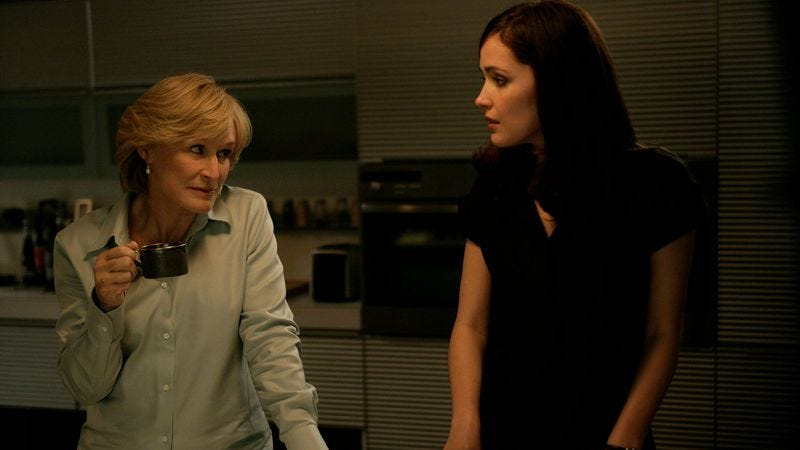Glenn Close and Rose Byrne, in a rare moment of peace on Damages (Photo: DirecTV)