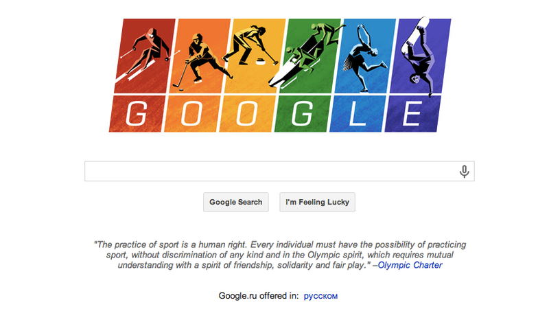 Illustration for article titled Google's Doodle Celebrates Diversity at the Olympics