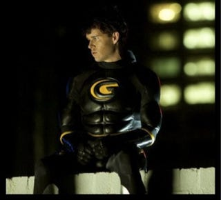 Illustration for article titled Jason Stackhouse's pulls on the pleather for his superhero film Griff