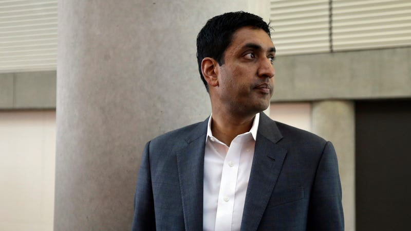 Ro Khanna, then-Democratic candidate for U.S. Representative from California's 17th District, during a break in the California Democrats State Convention Saturday, Feb. 27, 2016, in San Jose, Calif.
