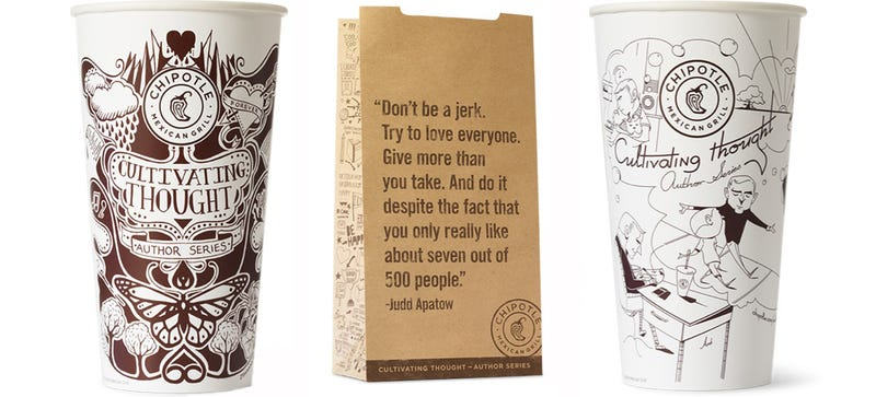 Illustration for article titled Chipotle's Putting Essays On Its Cups So You Can Brain Up At Lunch